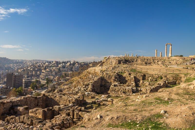 Citadela Jordânia de Amman fotos de stock royalty free