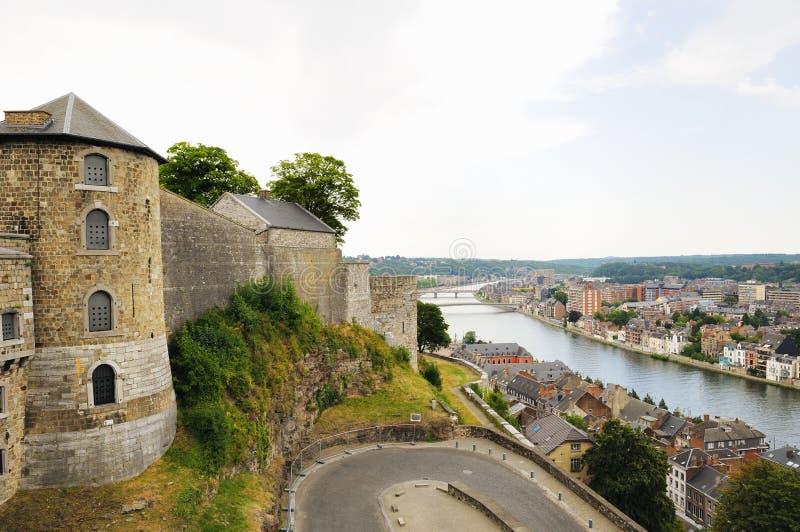 Citadela medieval em Namur, Bélgica fotografia de stock