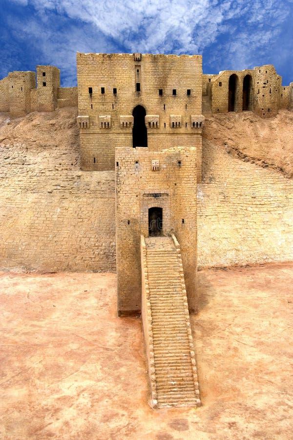Citadela Syria de Aleppo fotografia de stock