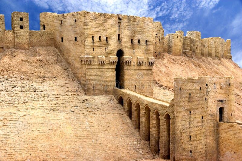 Citadela Syria de Aleppo imagem de stock royalty free