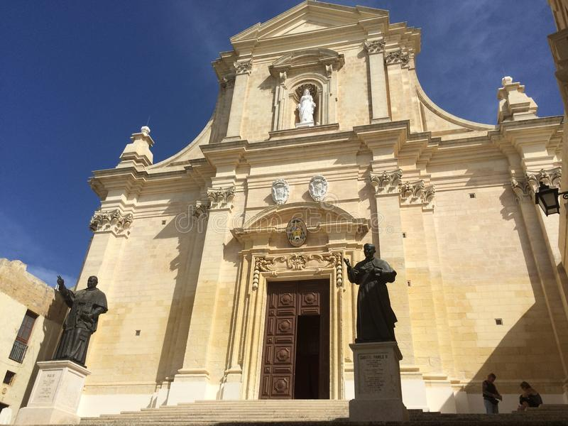 Citadella,维多利亚,戈佐岛,马耳他 库存照片