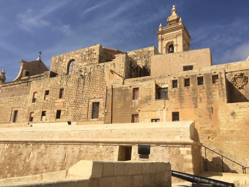 Citadella,维多利亚,戈佐岛,马耳他 库存图片