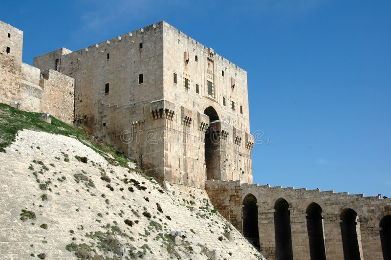 citadelle d'aleppo photographie stock