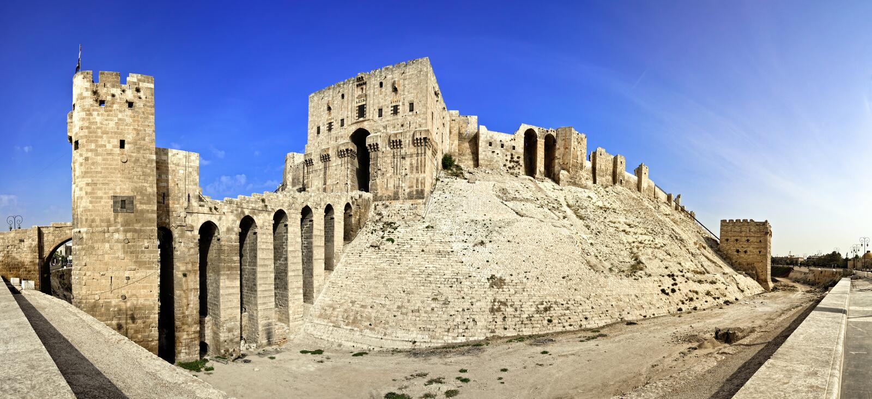 Citadelle de la Syrie - d'Alep image stock