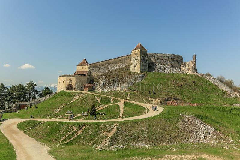 Citadelle de Rasnov image libre de droits