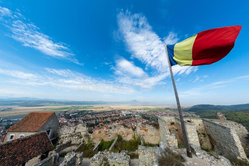Citadelle de Rasnov de Brasov, Roumanie à l'intérieur de vue de cour images libres de droits