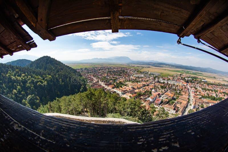 Citadelle de Rasnov de Brasov, Roumanie à l'intérieur de vue de cour image libre de droits