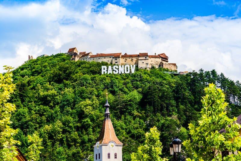 Citadelle de Rasnov en Transylvanie, Roumanie images stock