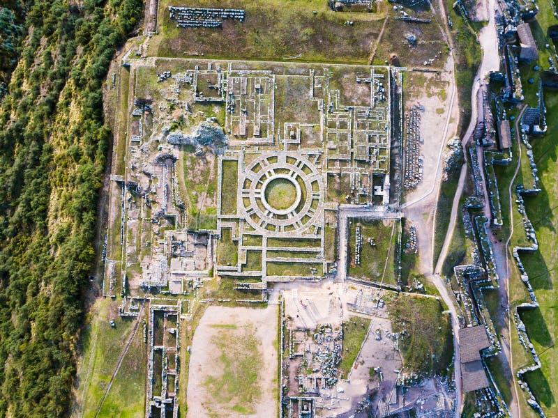 Citadelle de Saqsaywaman sur le Cusco du nord au Pérou images libres de droits