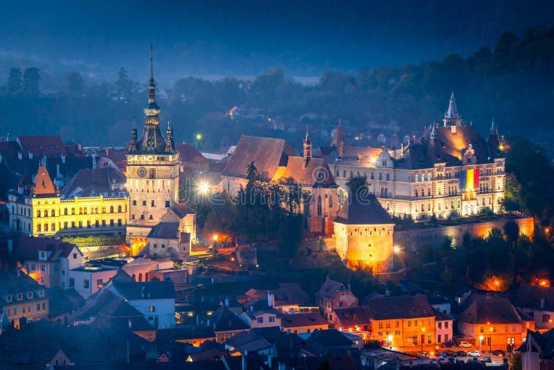 Citadelle de Sighisoara - la Transylvanie, Roumanie photographie stock libre de droits
