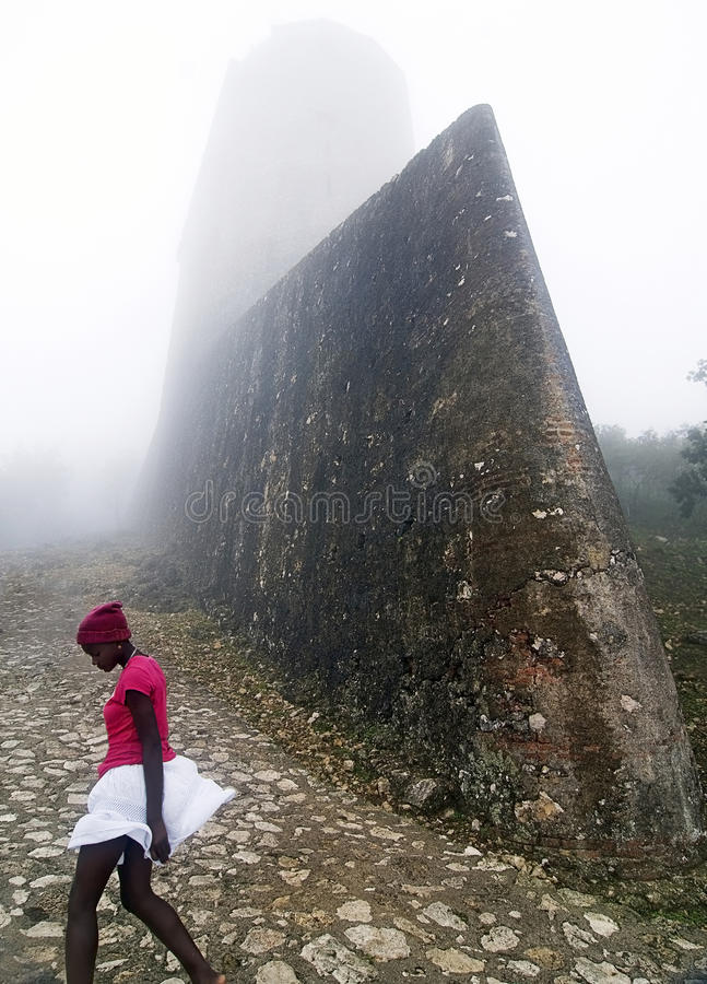 Citadelle Laferriere Fortress, Haiti stock photography