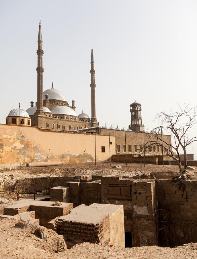 Citadelle le Caire Egypte de mosquée d'albâtre images stock
