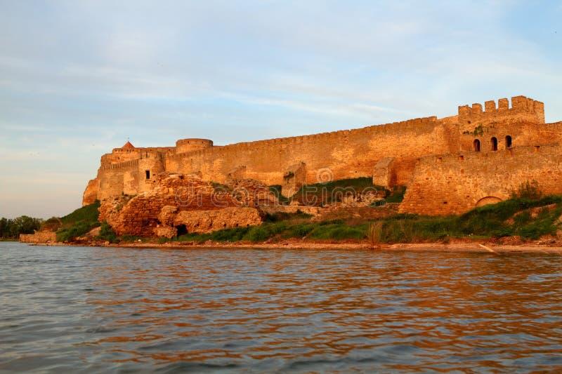 Citadelle sur l'estuaire du Dniestr image stock