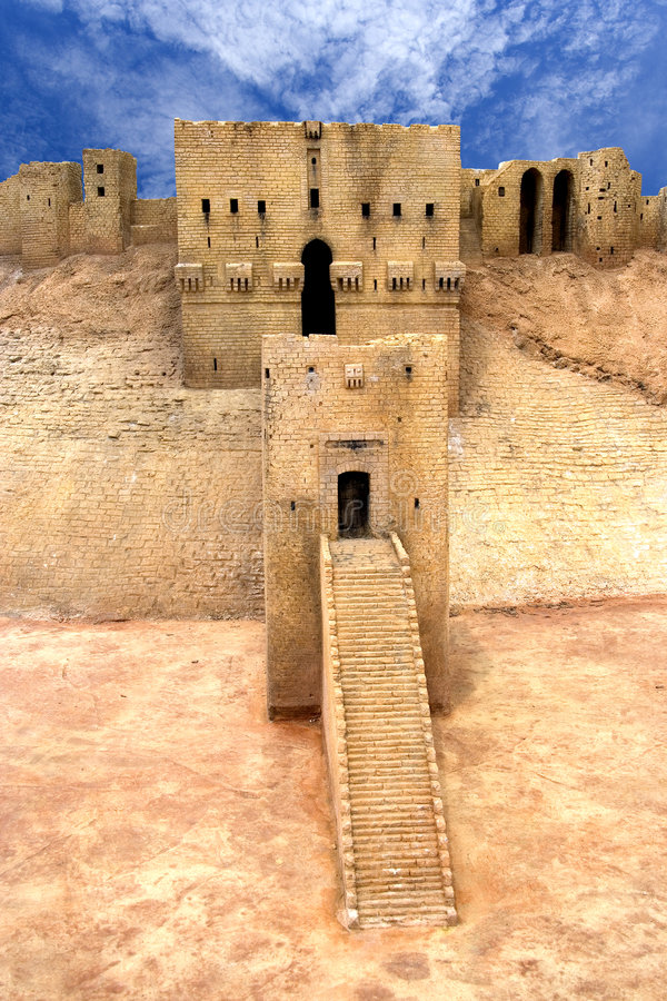 Citadelle Syrie d'Aleppo photographie stock