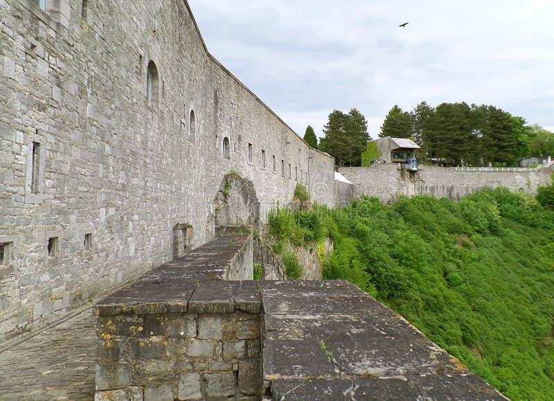 Citadellen av Dinant, medeltida fästning i Dinant, Belgien arkivbilder