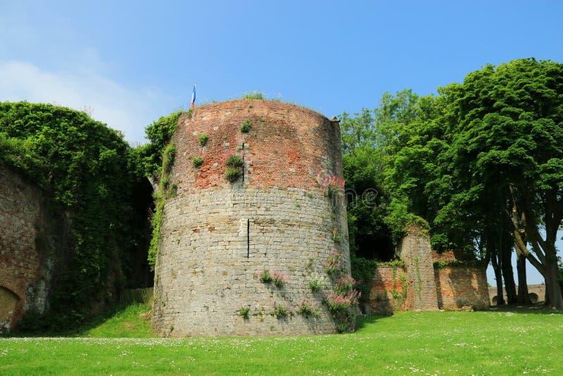 Citadellen av Montreuil på havet royaltyfri foto