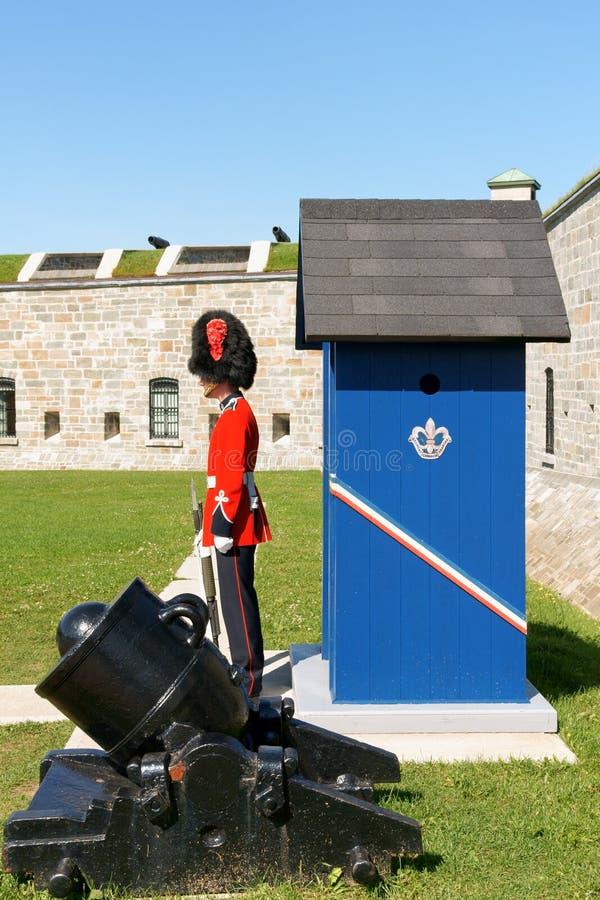 Citadellen av Quebec City i Kanada arkivbilder