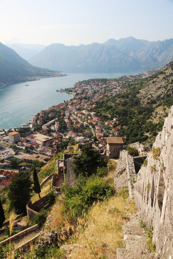 Citadellen i Kotor, Montenegro arkivbilder
