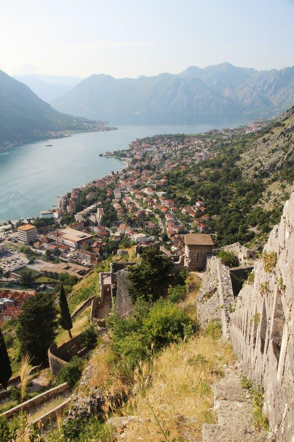 Citadellen i Kotor, Montenegro arkivbild