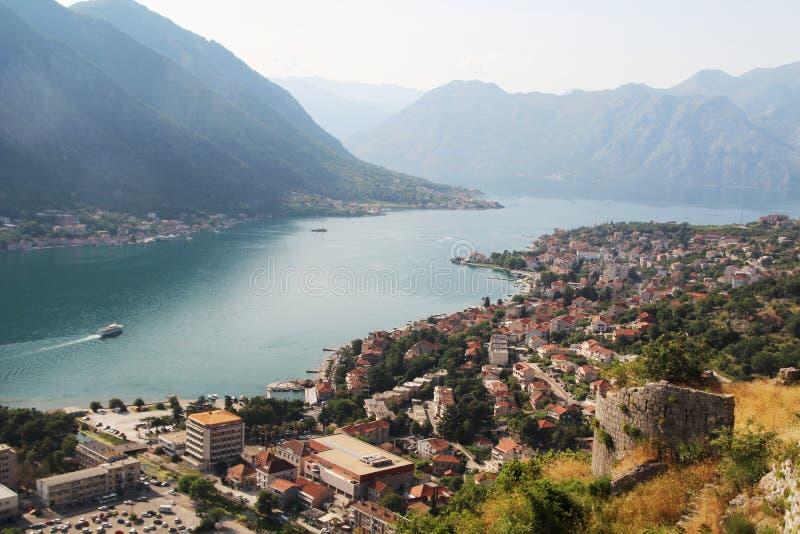 Citadellen i Kotor, Montenegro fotografering för bildbyråer