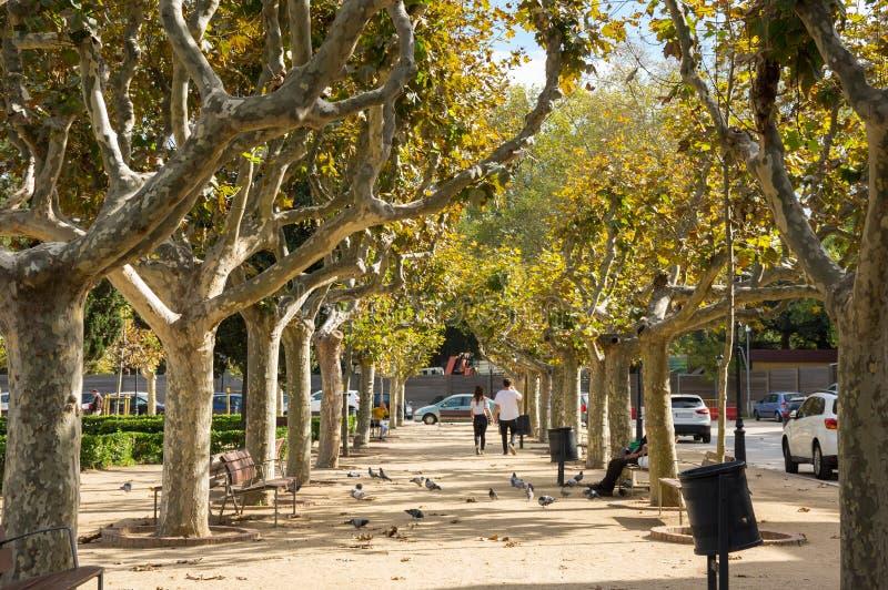 Citadellen parkerar i Barcelona fotografering för bildbyråer