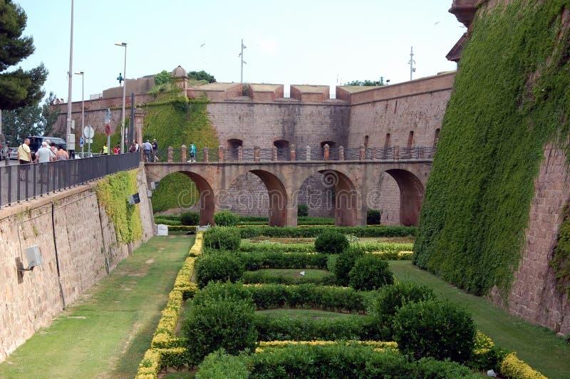 Citadellen parkerar i Barcelona royaltyfri foto