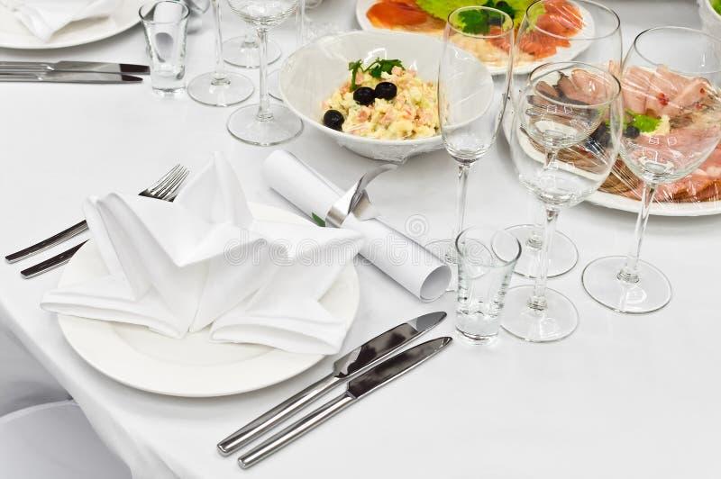 Citas de vector para la cena en restaurante imagen de archivo