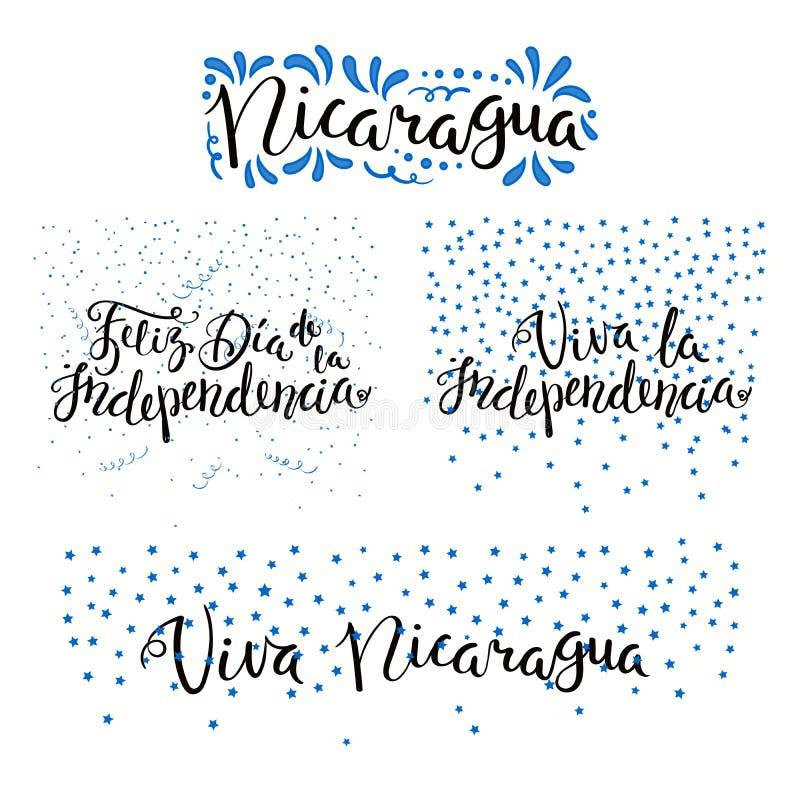 Citas del Día de la Independencia de Nicaragua ilustración del vector
