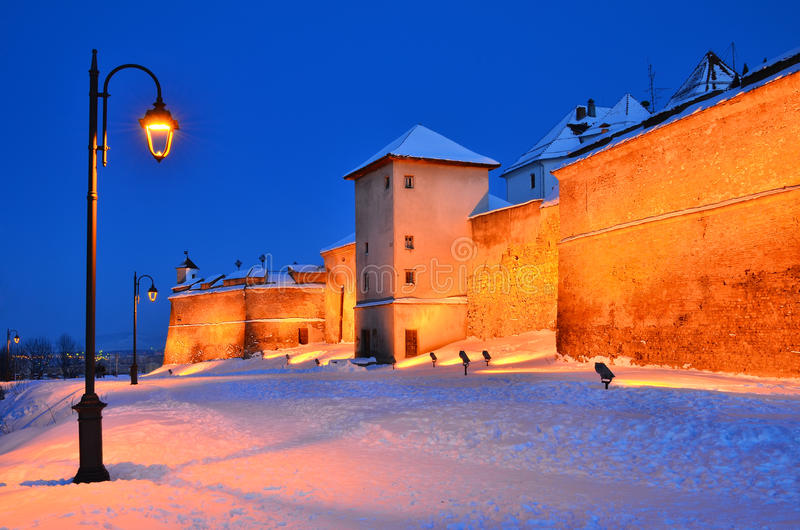 Citatel of Brasov, Romania royalty free stock image