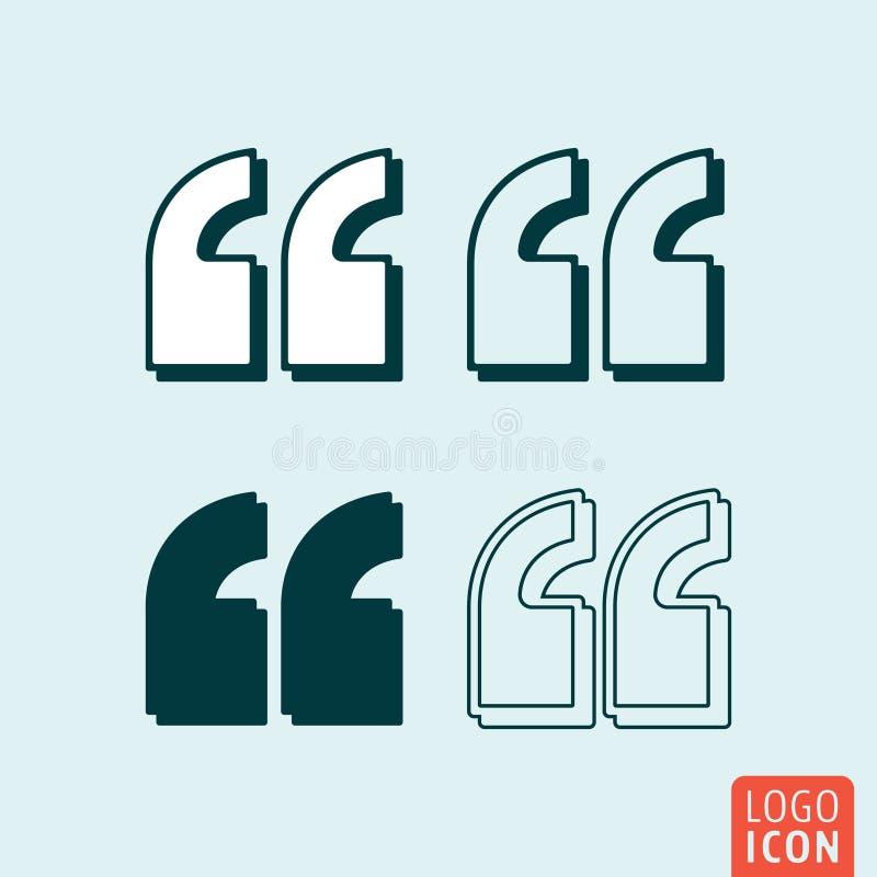 Citaten - het teken van de citaatkomma Citaat - de dubbele reeks van het komma'steken royalty-vrije illustratie