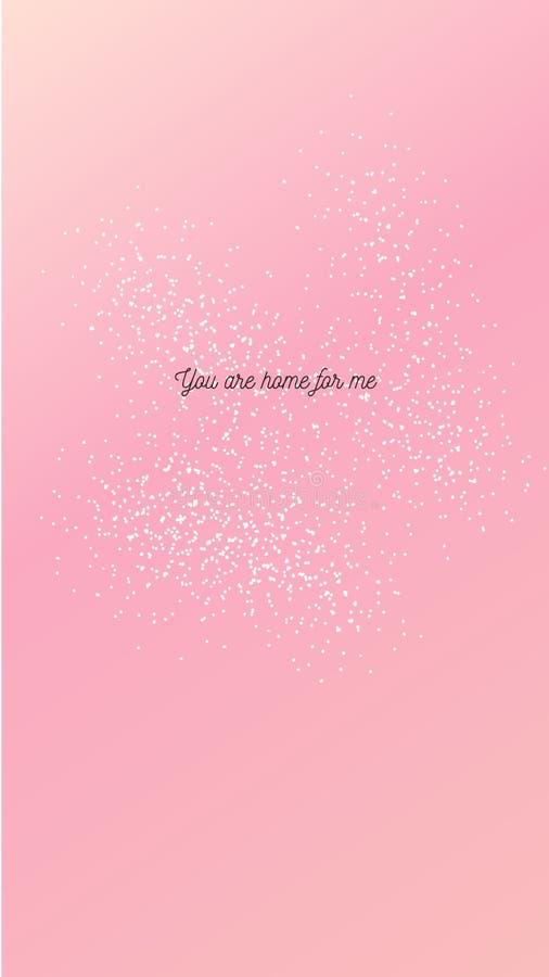Citaten voor de dag van de Gelukkige valentijnskaart voor behangillustratie en smartphone royalty-vrije illustratie