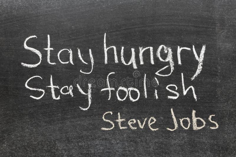 Citation de Steve Jobs images libres de droits