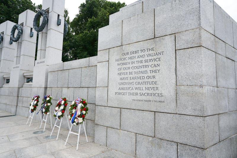 Citation commémorative de WWII par le Président Harry Truman photographie stock libre de droits