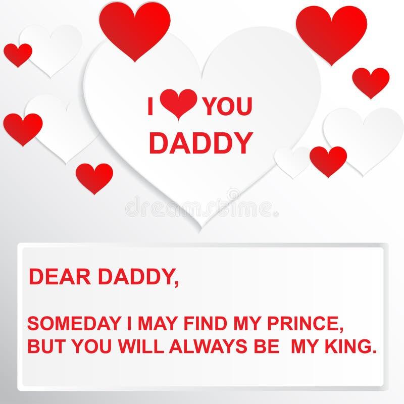 Citation d'amour - un jour je peux trouver mon prince, mais vous serez toujours mon roi illustration libre de droits