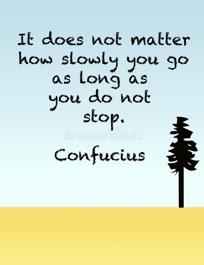 Citation de Confucius sur la détermination illustration de vecteur
