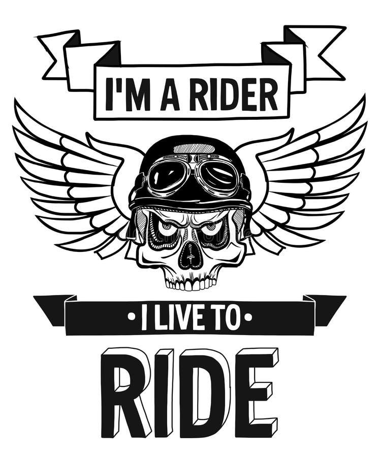Citation de cycliste de vecteur avec l'expression de motivation illustration de vecteur