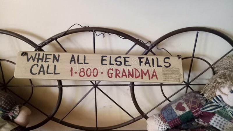 Citation de grand-maman image libre de droits