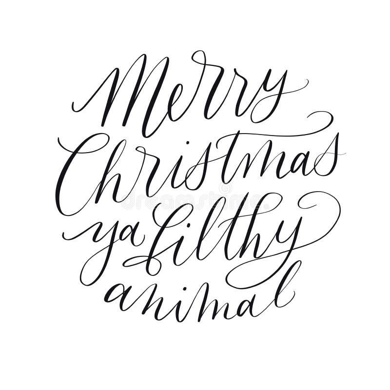 Citation de Joyeux Noël illustration stock