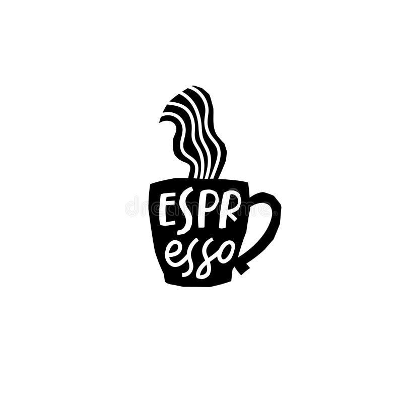Citation de la chemise Coffee Espresso illustration libre de droits