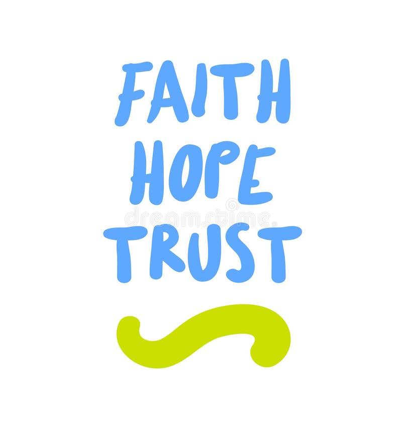 Citation de motivation de confiance d'espoir de foi illustration libre de droits