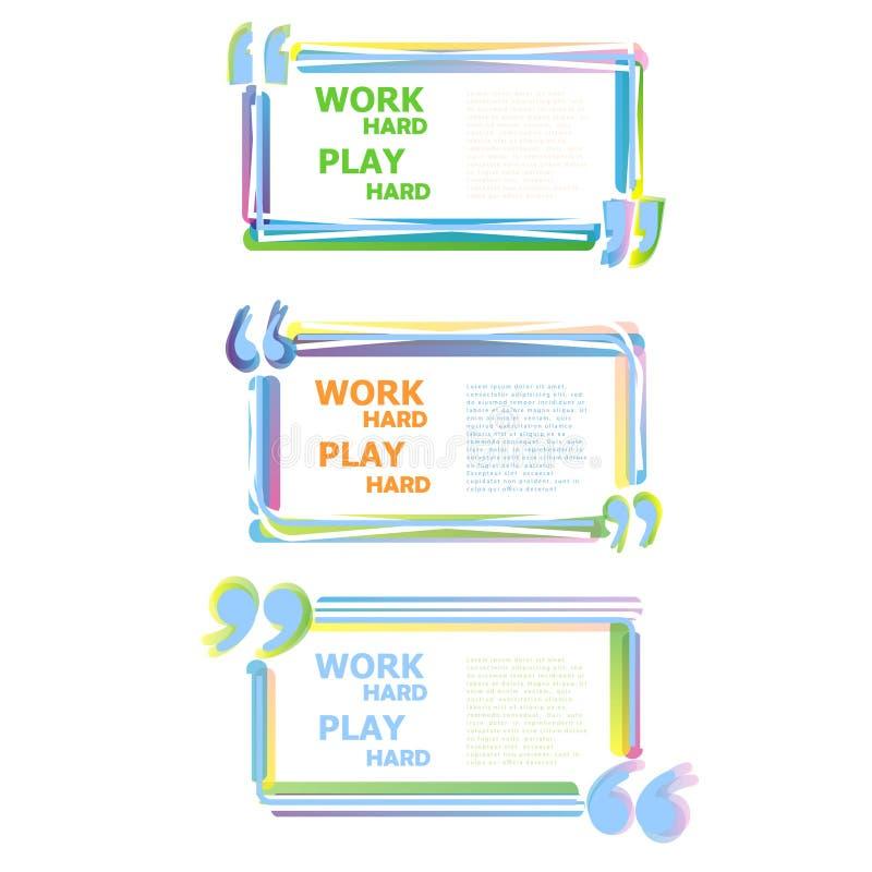 Citation de motivation de couleur illustration de vecteur