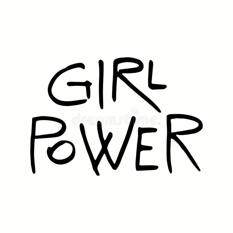 Citation de puissance de fille illustration stock