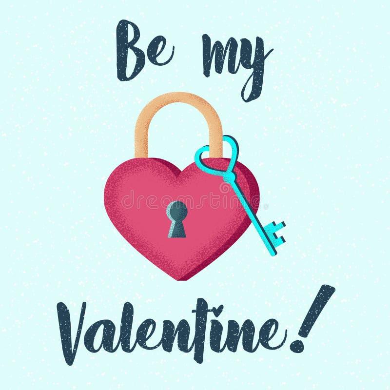 Citation de thème d'amour Calligraphie tirée par la main, marquant avec des lettres avec le coeur rose Conception pour la carte d illustration stock