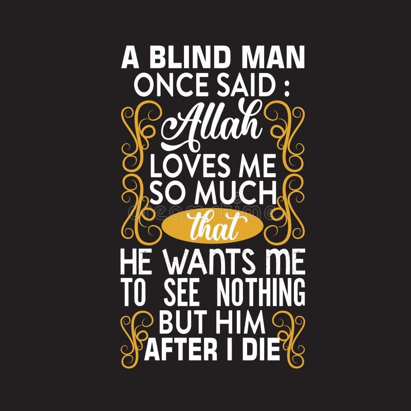Citation musulmane et dire bonnes pour la conception d'impression illustration stock