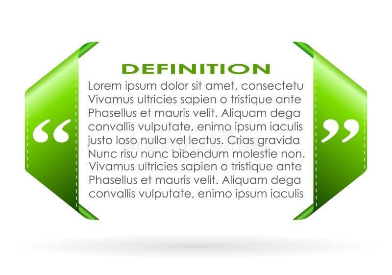 Citation symbol vector illustration