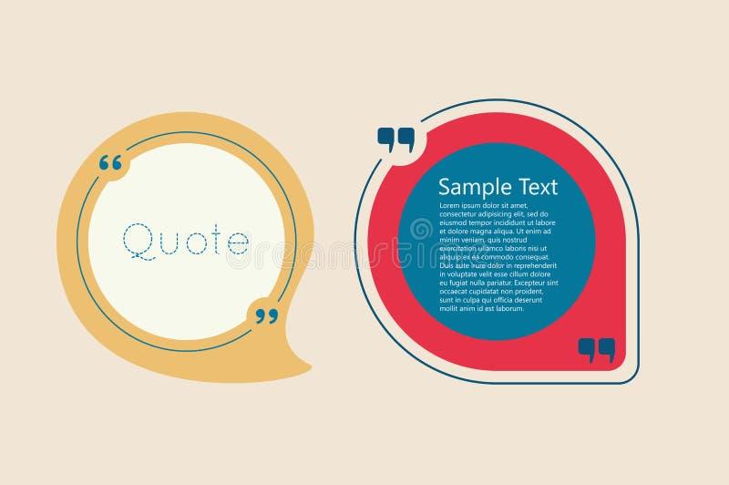 Citationsteckentextbubbla royaltyfri illustrationer