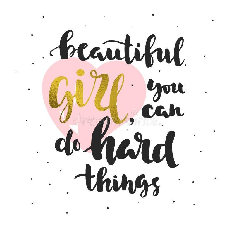 Citazione circa credere in voi stesso (per le ragazze) royalty illustrazione gratis