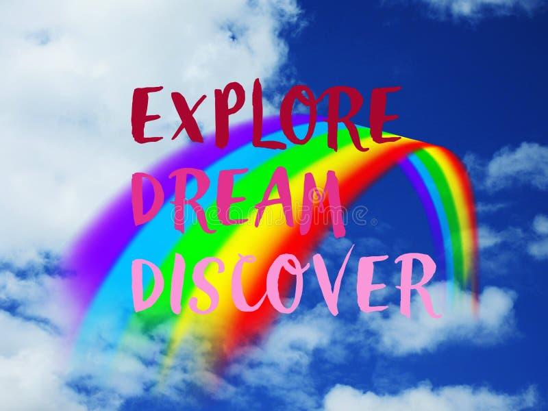 Citazione dell'arcobaleno fotografie stock libere da diritti