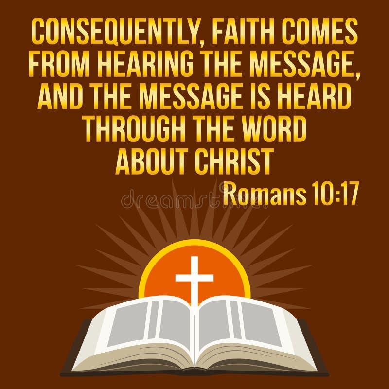 Citazione motivazionale cristiana Verso della bibbia Sole trasversale e brillante illustrazione di stock