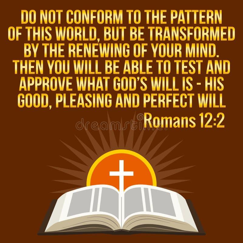 Citazione motivazionale cristiana Verso della bibbia Sole trasversale e brillante royalty illustrazione gratis